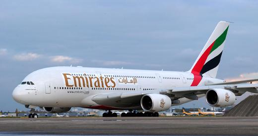 Un A380 d'Emirates Airlines