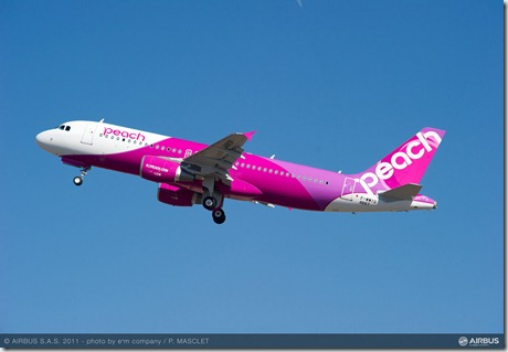 Le premier A320 de Peach Aviation