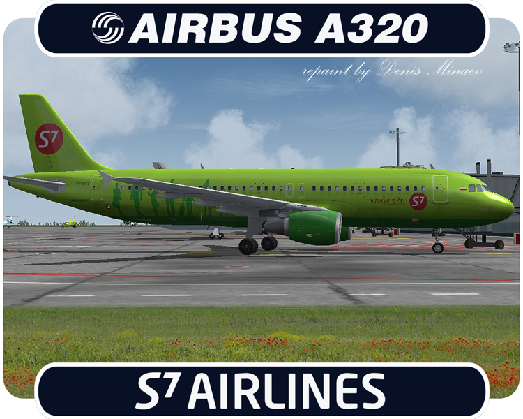 FS2004 S7 Airlines Airbus A320-233