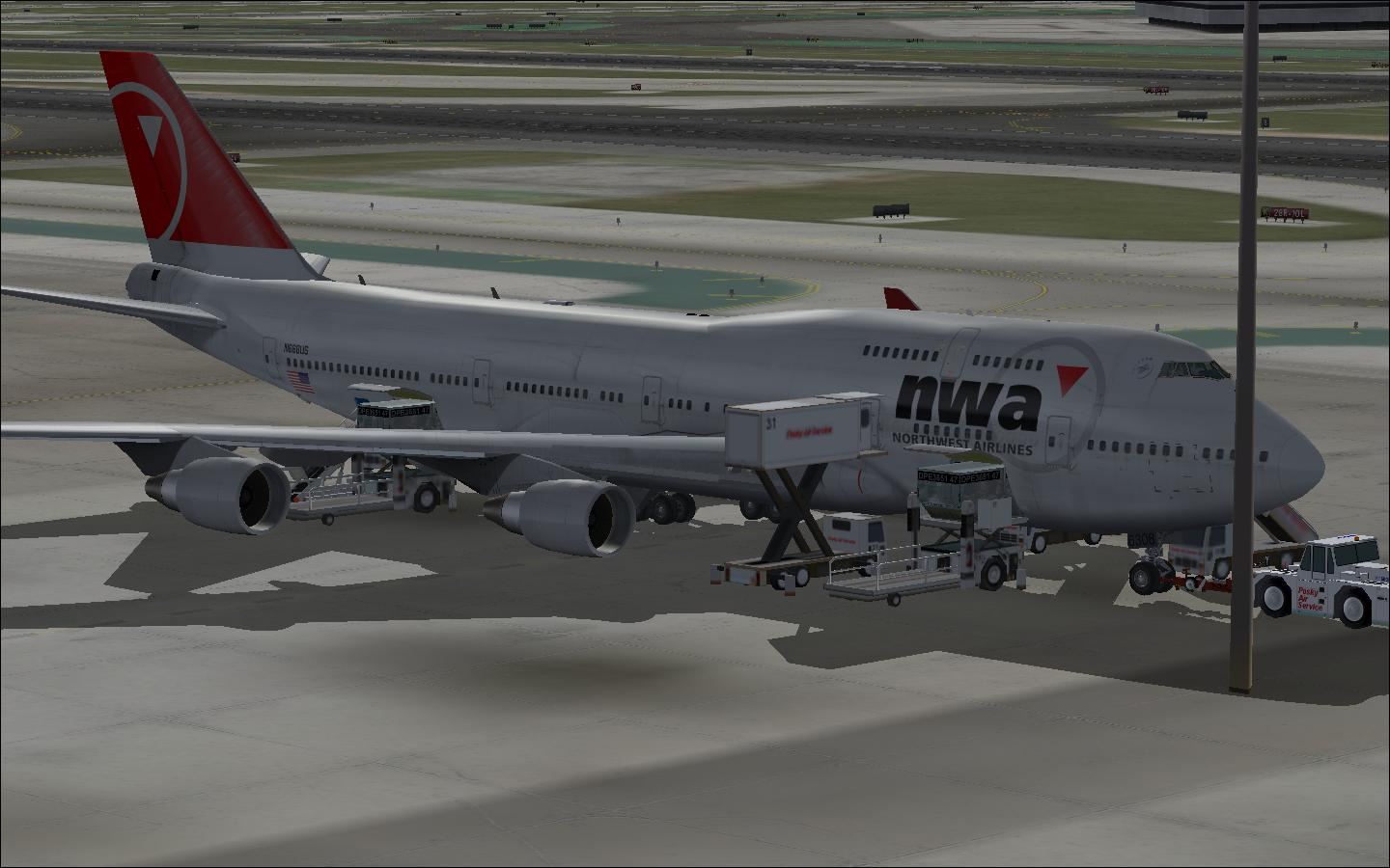 FS2004 Boeing 747-400 Northwest Airlines
