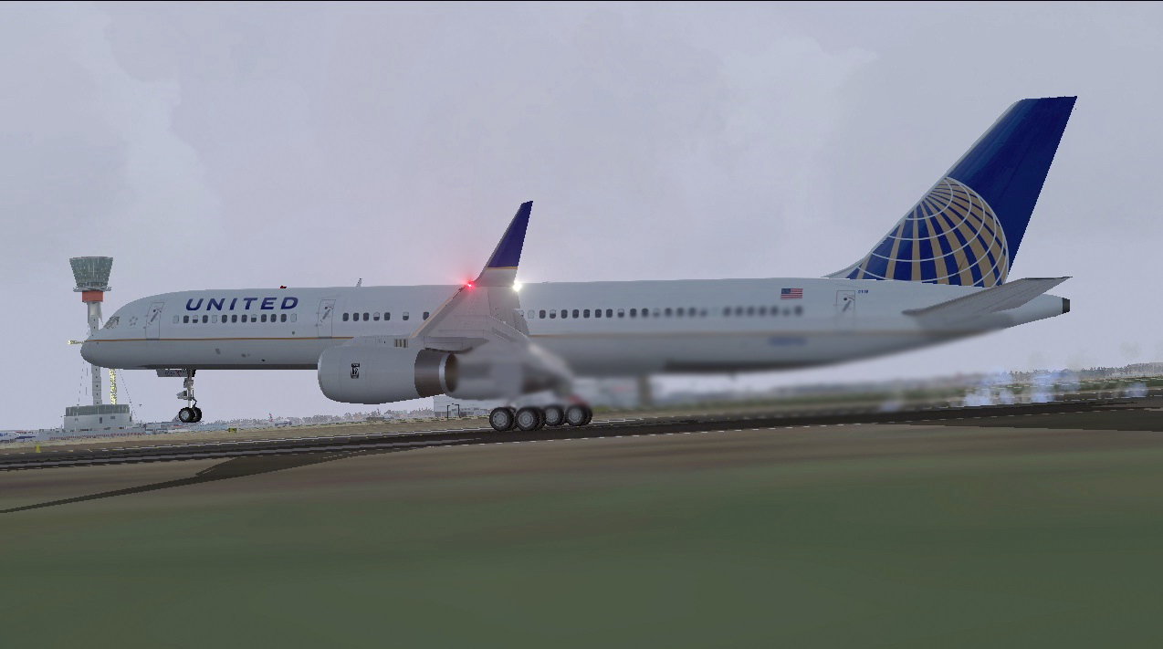 FS2004 FSX Boeing 757-200-RR United Airlines N1811 textures