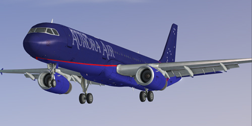 FSX  Aurora Airways Airbus A321