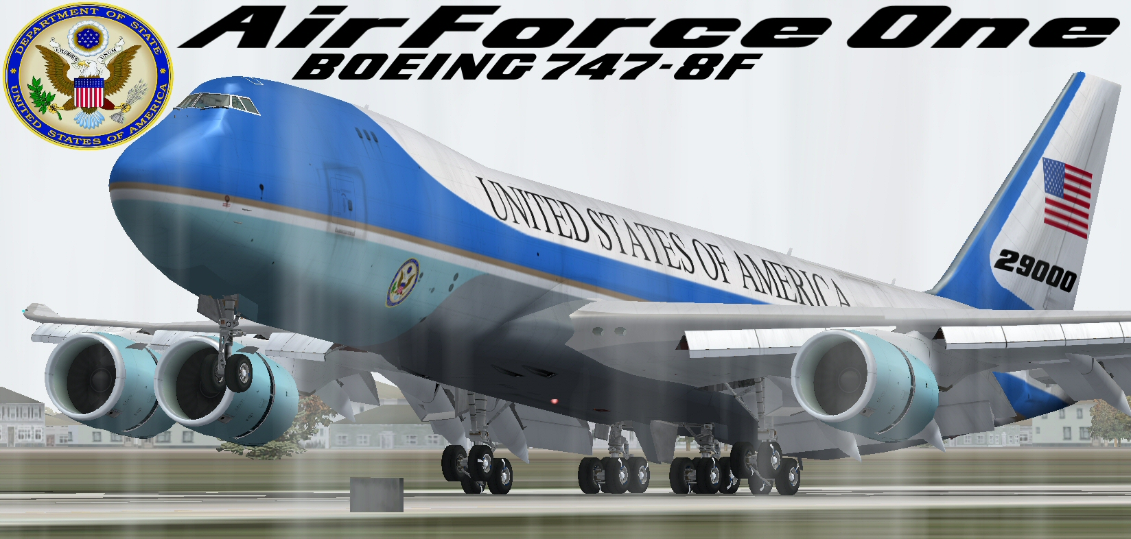 FS2004 FSX Air Force One Boeing 747-8F