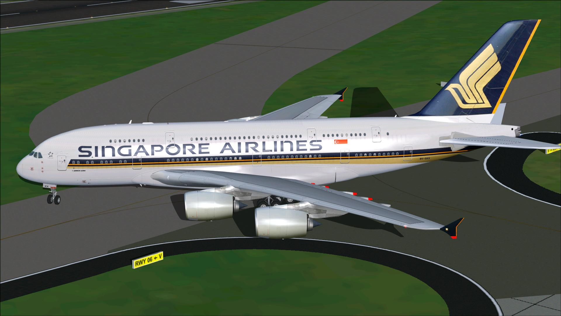 FSX Airbus A380-800 Singapore Airlines Package
