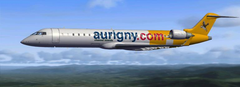 FSX CRJ 700 Aurigny Airlines, Guernsey, Textures only.