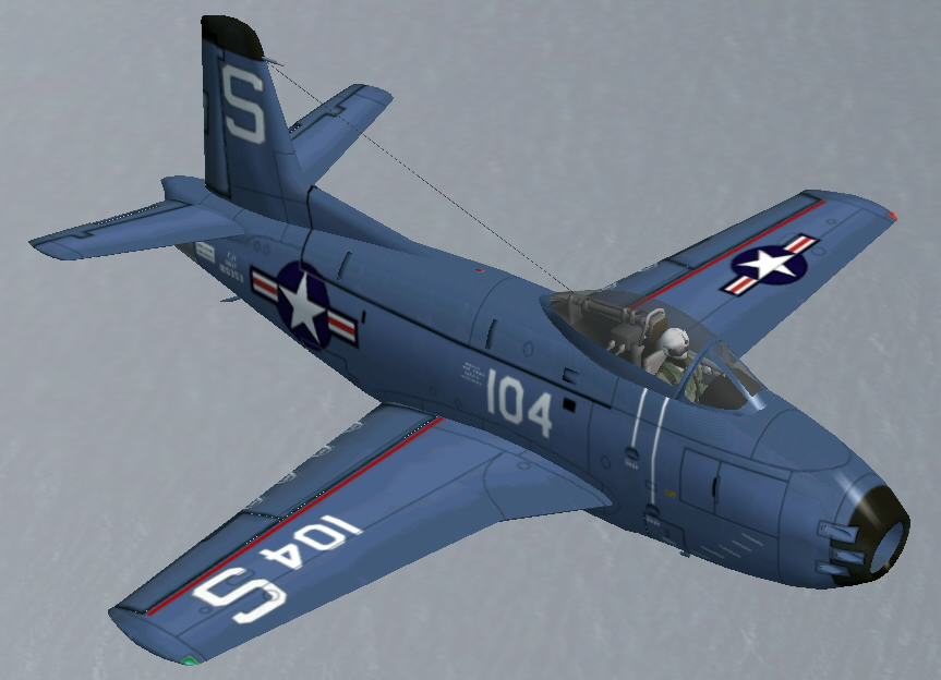 FS2002 FS2004 North American FJ-1 Fury