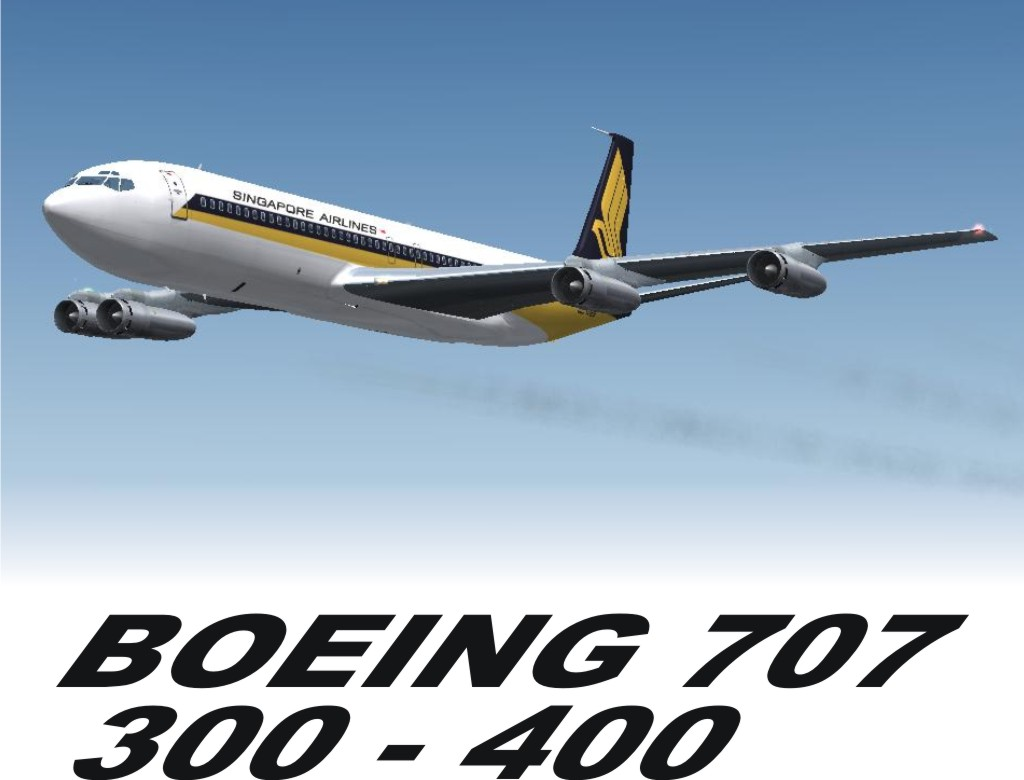 FSX FS2004 Boeing SINGAPORE AIRLINES B707-324C
