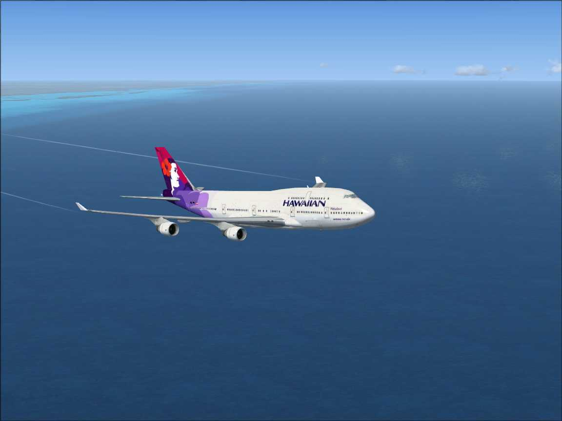 FSX Boeing 747-400 HAWAIIAN airlines International