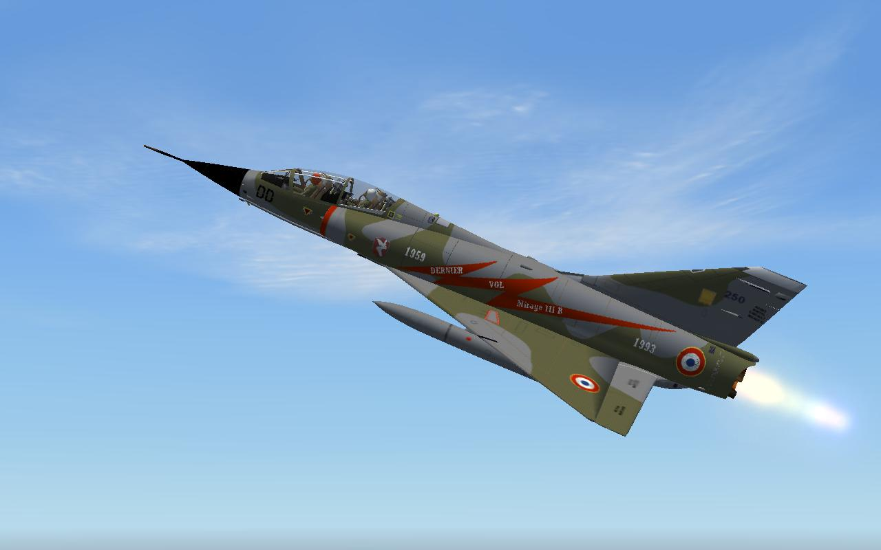 FS2004 FSX Dassault Mirage III B Last Flight