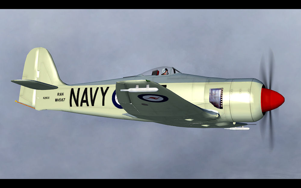 FSX Hawker Sea Fury FB.11 WH587 N260X