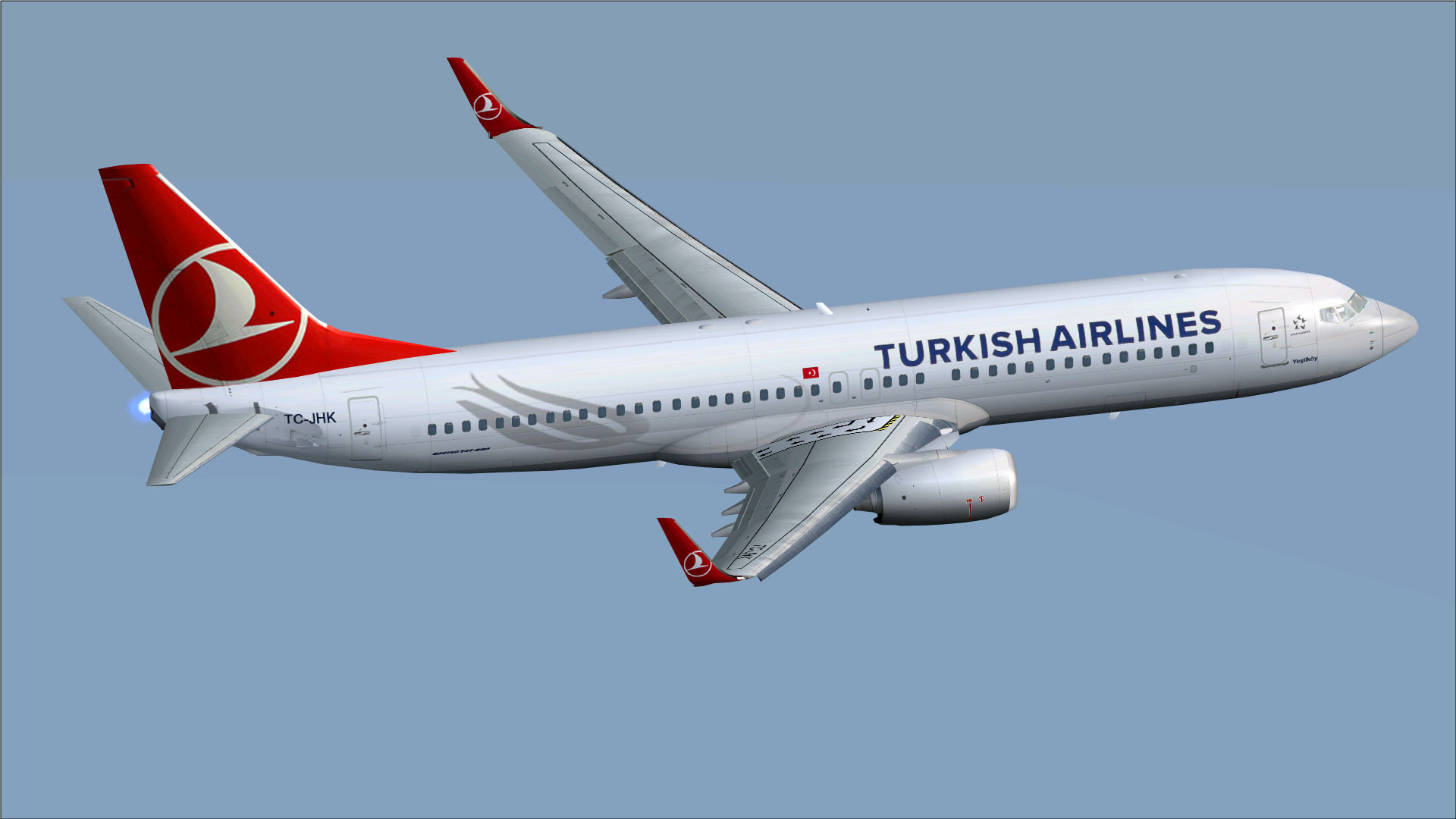 FSX Boeing 737-800w Turkish Airlines