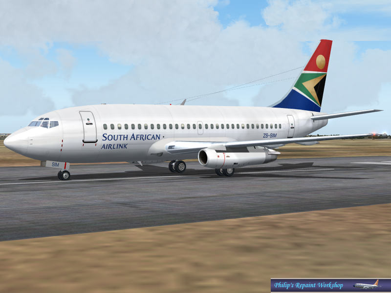 FS 2004 South African Airlink ZS-SIM Boeing 737-200