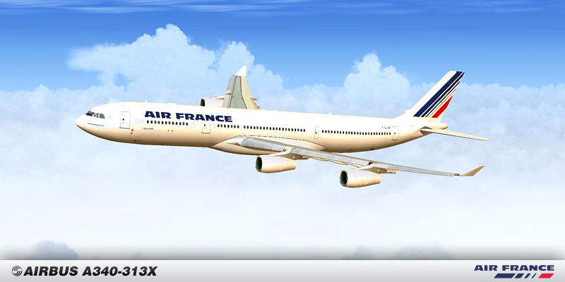 FSX AIRBUS A340-300 Air France old livrery