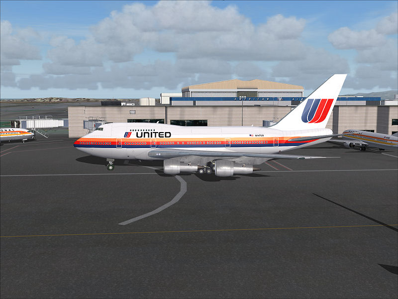 FS2004 Boeing 747 united airlines