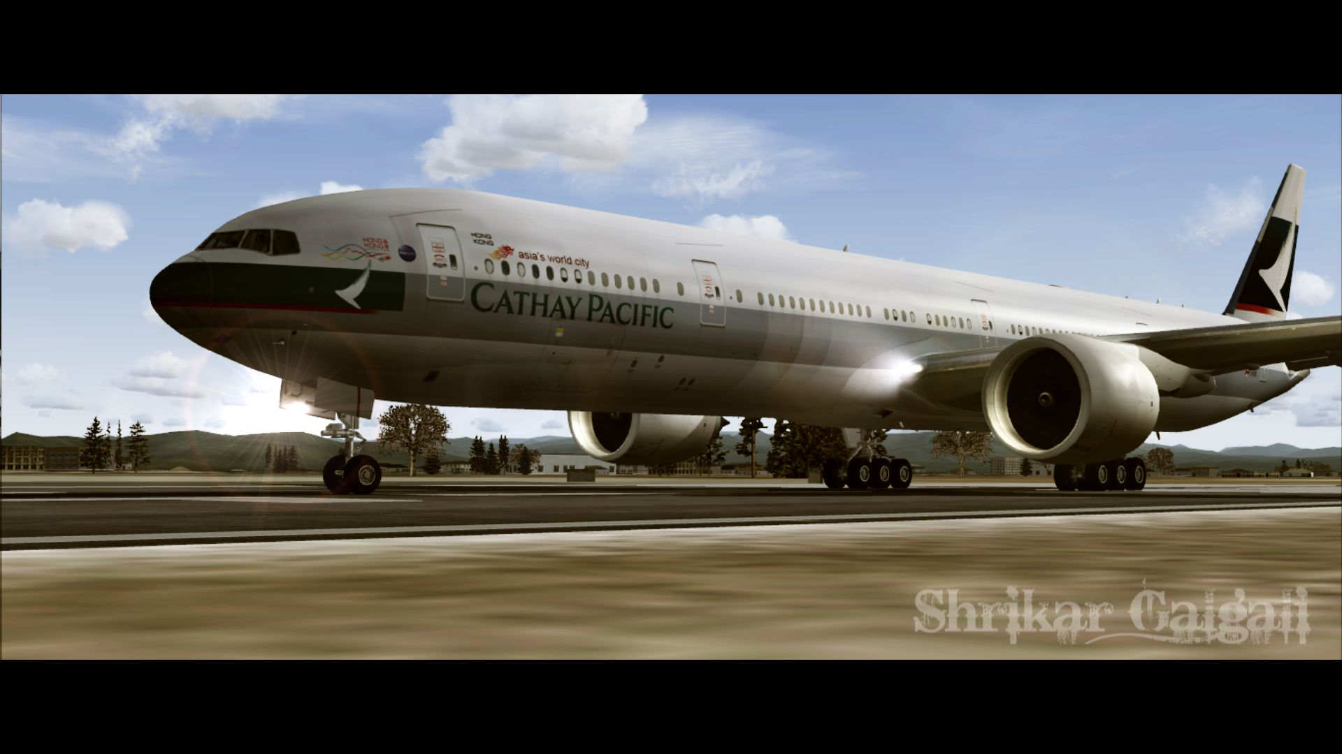 FS2004 FSX Boeing 777-300 Cathay Pacific