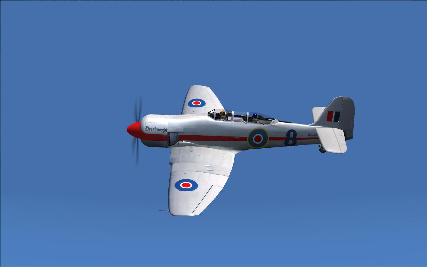FS 2004 Hawker Sea Fury Dreadnought