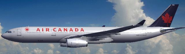 FSX Airbus A330-300 Rolls Royce Engines Air Canada