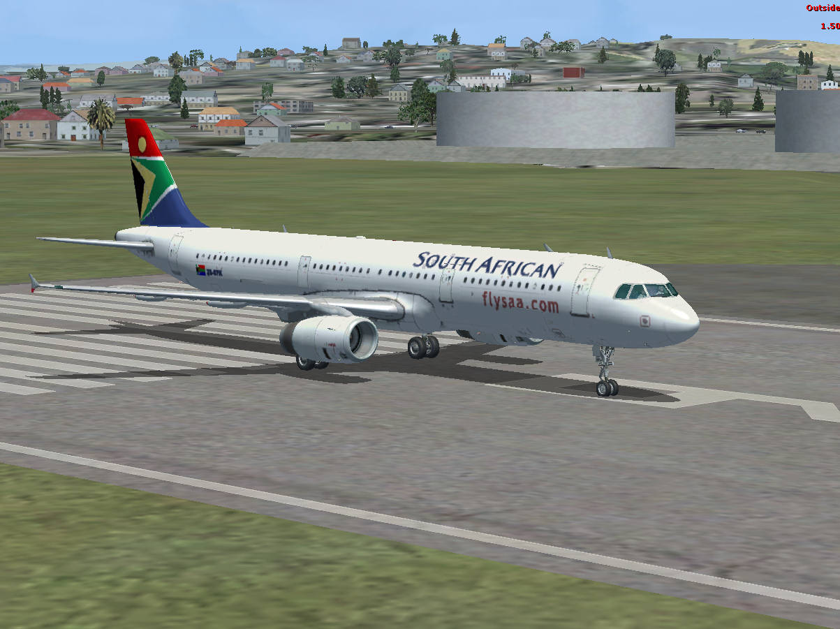 FSX Airbus A321 in South African Airways