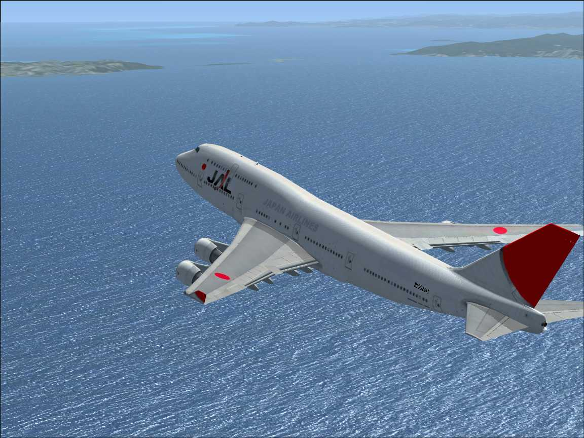 FSX Boeing747-400 Japan airlines &Aloha airlines & Hawaiian airlines