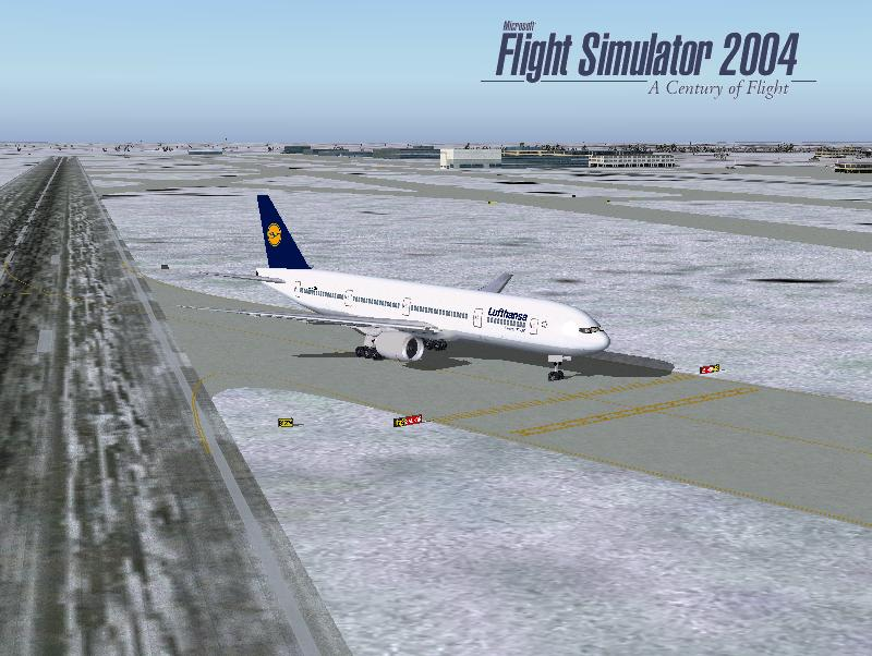 FS2004 Default Lufthansa Texture for the Boeing 777-300