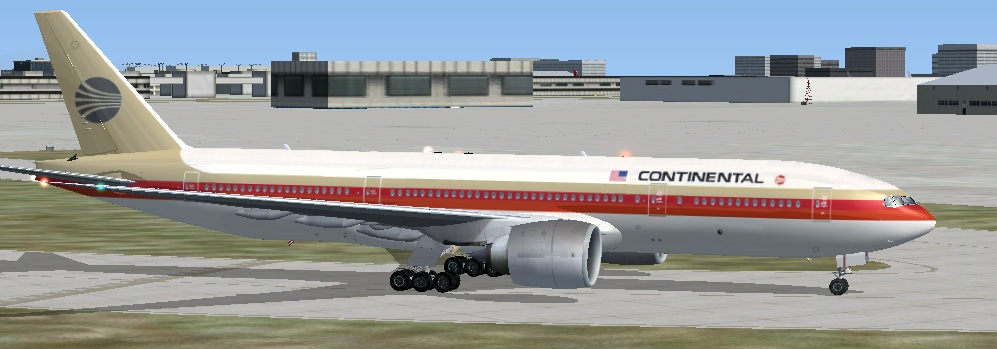 FSX Boeing 777-200 Version 2 – CONTINENTAL OC