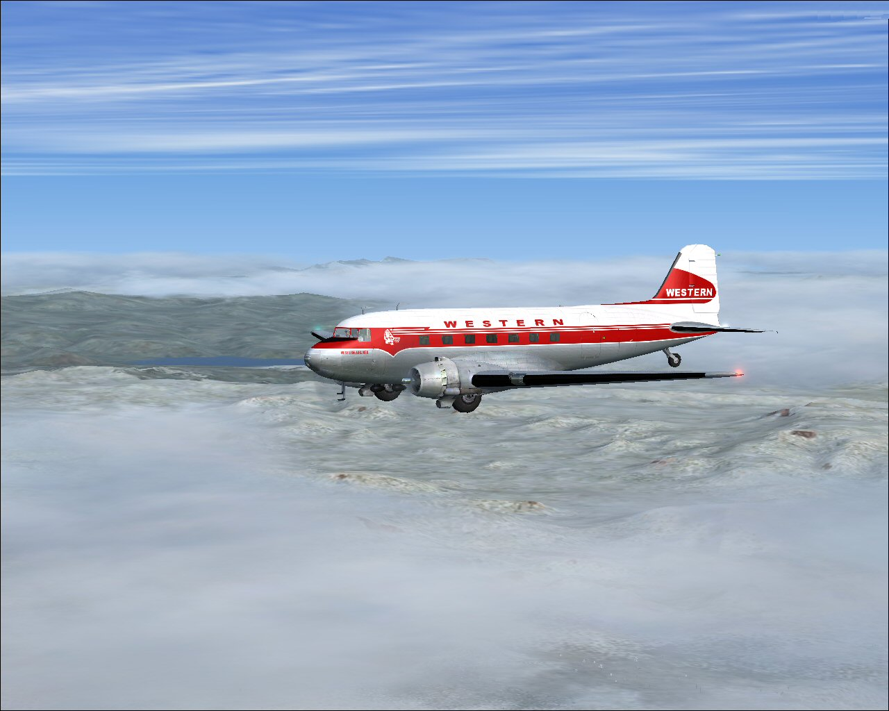FSX DC-3 Western Airlines