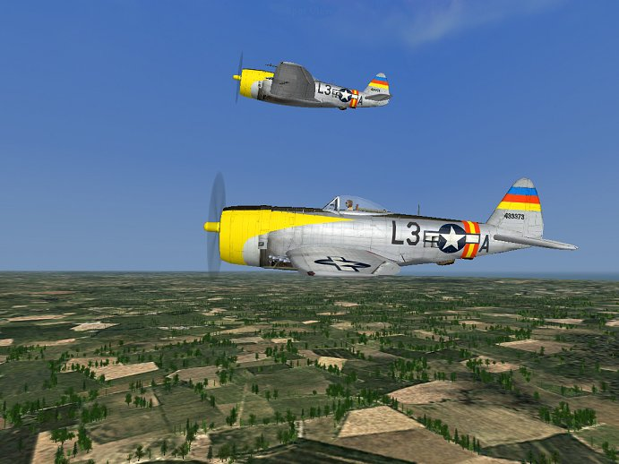 CFS 3 Republic P-47D-25 Thunderbolt of the 512th Fighter Squadron