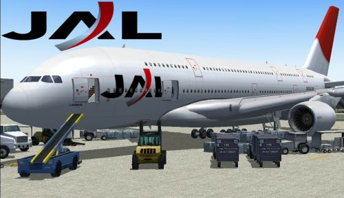 FS2004 FSX JAL Japan Airlines A380-800
