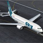 FS2004 SKY AIRLINES BOEING 737-800 paint