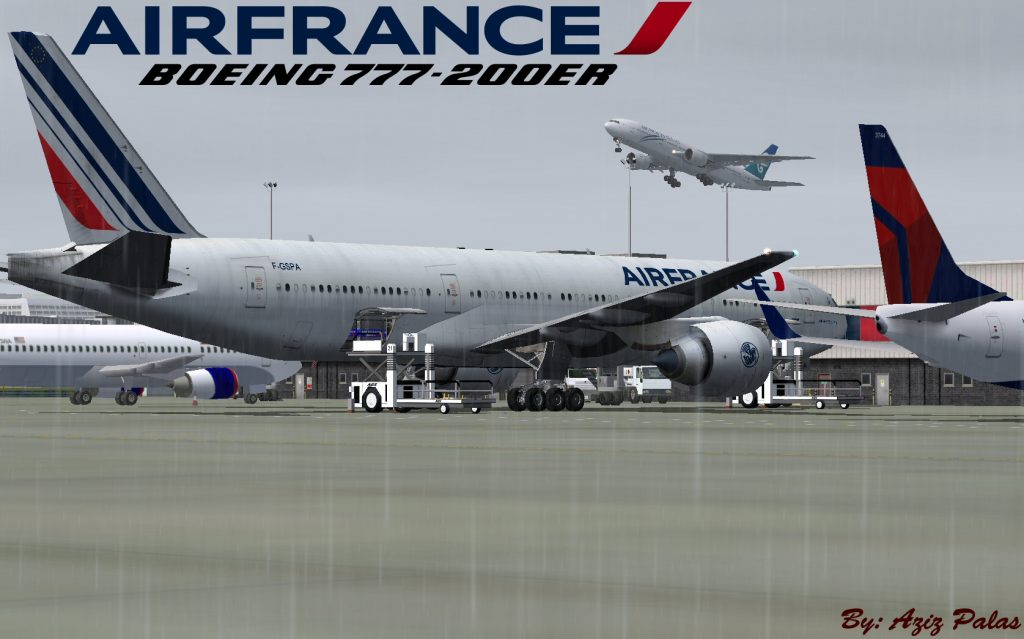 FS2004 FSX Boeing 777 228 ER Air France
