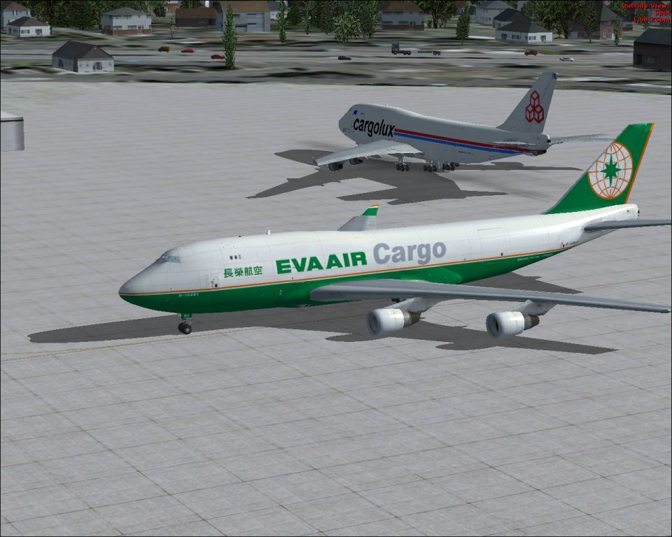 FSX Boeing 747 400 EVA Air Cargo repaints