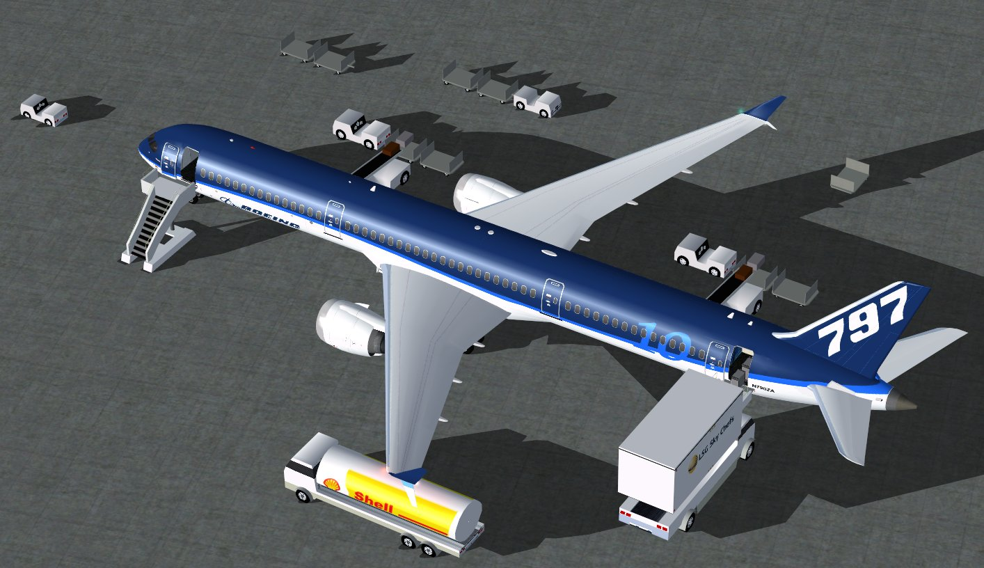CamSim Boeing 797-10 V5 Boeing House Colors