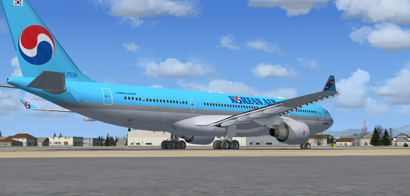 FSX Airbus A330-200 Korean Airlines package
