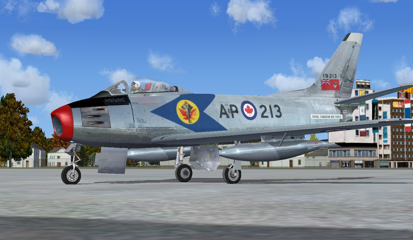 FSX Canadair F-86F Sabre RCAF Canadian Package