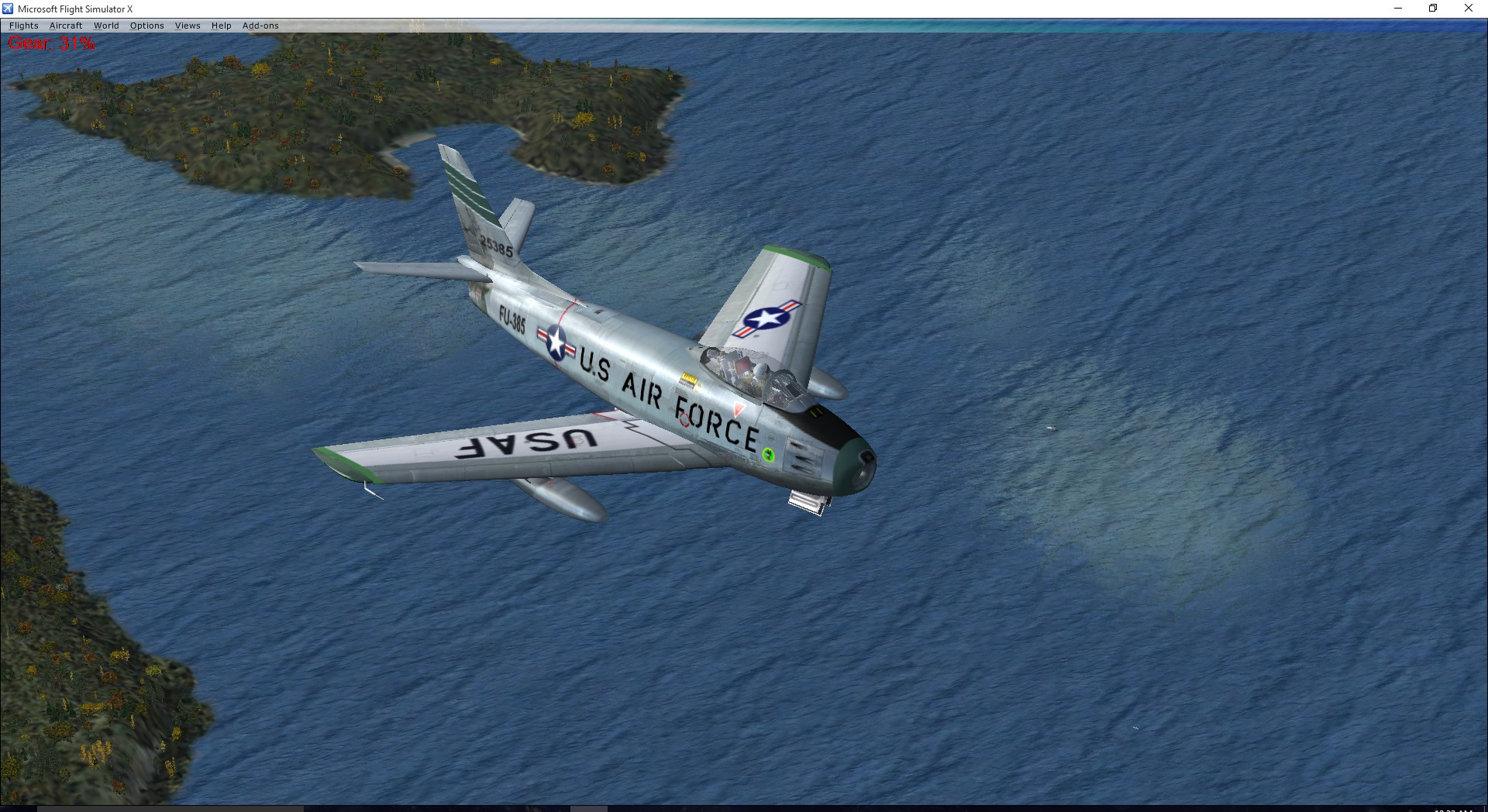 FSX North American F-86F Sabre FU-385 USAF Wolfhounds