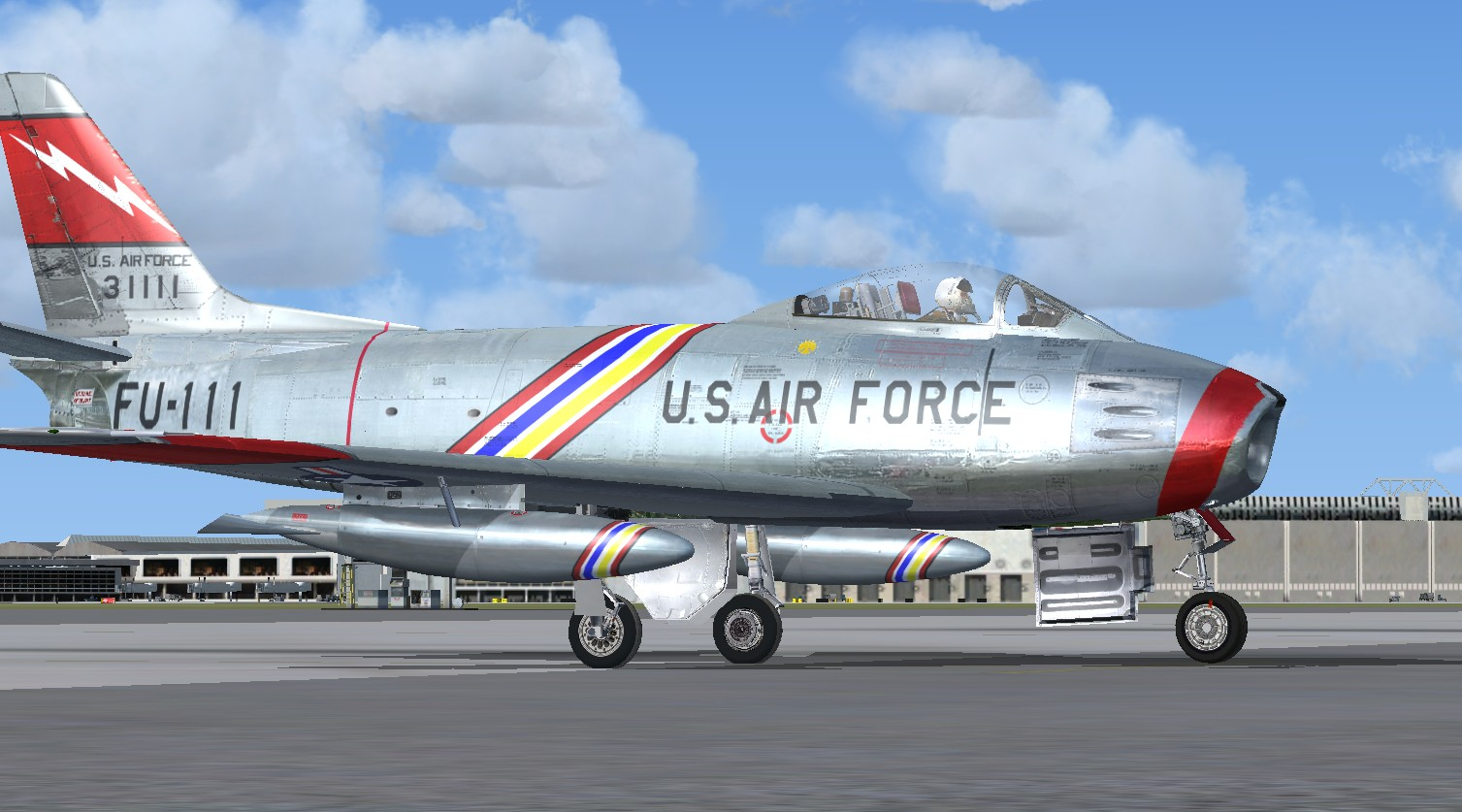 FSX North American F-86F Sabre USAF Package