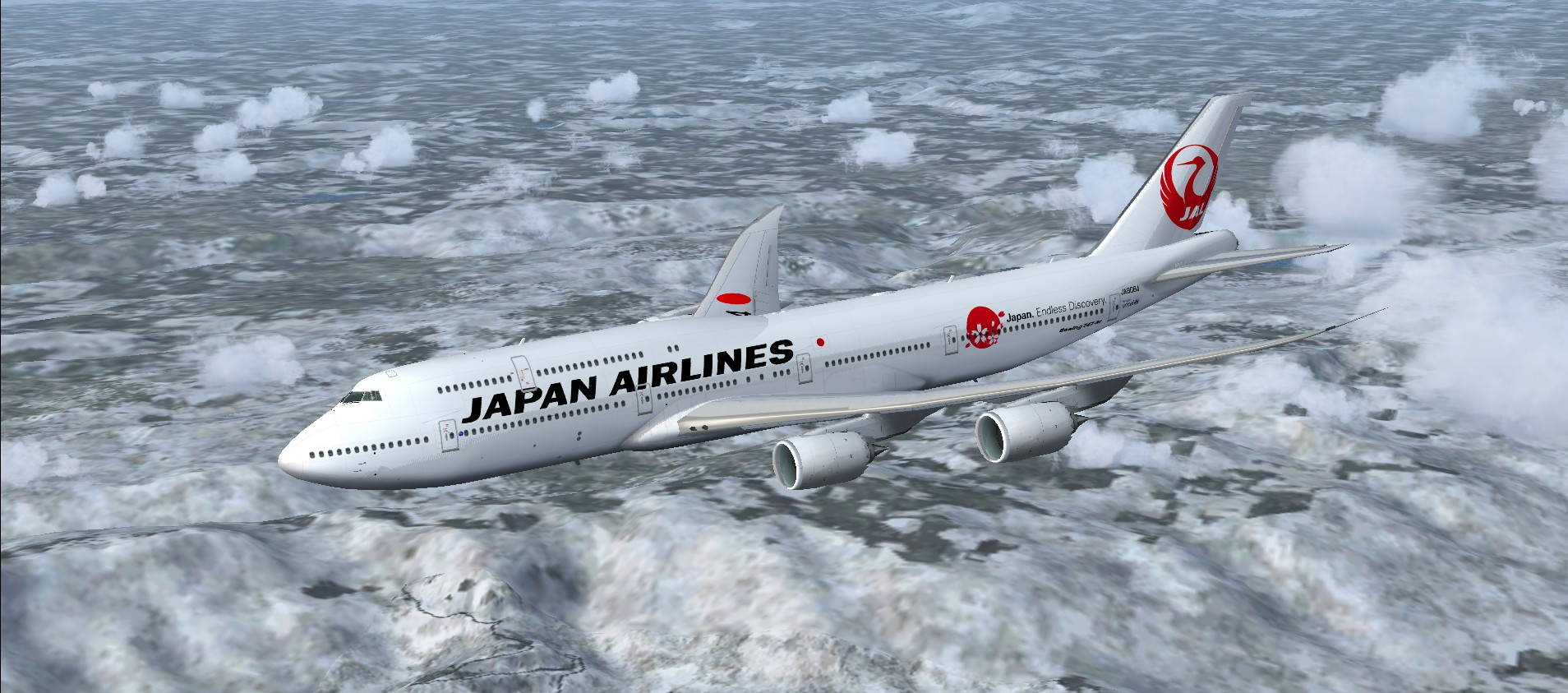 FSX Boeing 747-8i Japan Airlines (JAL) package