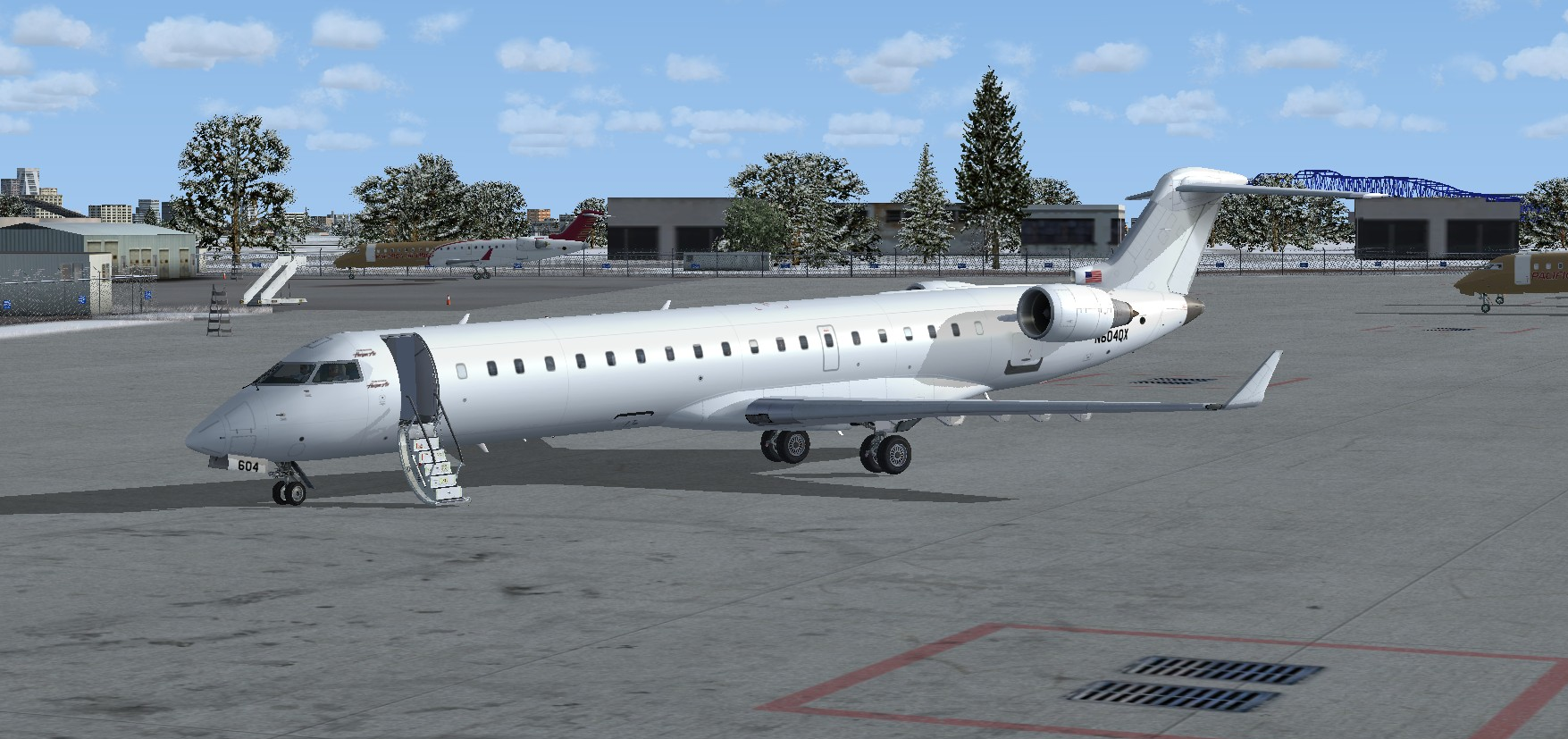 FSX Bombardier CRJ-701 Frontier JetExpress 'Untitled' package